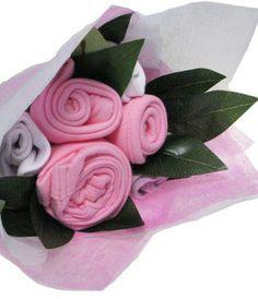 Cadeau de naissance original, le bouquet de layette