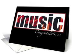 Graduation from Music School, Congratulations card