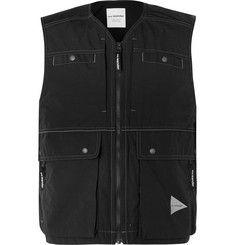 And Wander - Cropped Nylon Gilet - Men - Black Fashion Advice, Fashion News, Mens Fashion, English Shop, Mr Porter, Designer Clothes For Men, Sports Jacket, Black Nylons, Wander