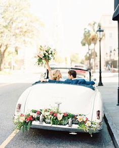 comment below and share your what your picture-perfect wedding getaway looks like. ✨✨✨ We are a bit smitten with these floral… Simple Wedding Decorations, Simple Weddings, Destination Wedding, Wedding Planning, Travel And Leisure, Charleston, Perfect Wedding, Rustic Wedding, Floral
