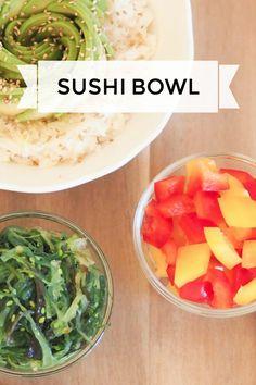 Sushi Bowl, vegan und gesund. Eine schnelle Alternative zu Sushi :) #vegan #sushi #healthy