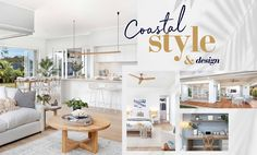 From the moment you step inside a coastal beach house, the features and treatments inspire the feeling of sitting on the sand by the ocean in the late afternoon breeze. Coastal Color Palettes, Coastal Colors, Timber Cladding, Timber Flooring, Stacker Doors, Feature Tiles, Beach Shack, Display Homes, Modern Coastal