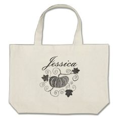 #Personalized Pumkins Large Tote Bag - #Halloween #happyhalloween #festival #party #holiday