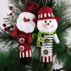 Cute Christmas Santa Snowman X'mas Tree Pendant Ornaments Party Decoration Gift #Unbranded
