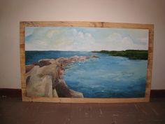 """Gennie's rock"", Oil on wood, June 2015, Swaziland"
