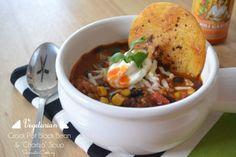"Vegetarian Crockpot Black Bean and ""Chorizo"" Soup - Sarcastic Cooking"