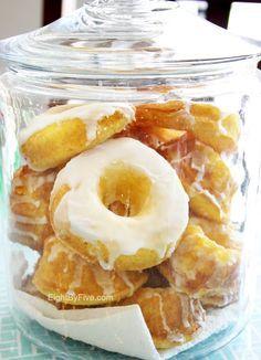 10-minute lemon donuts - made with a cake mix, lemon pudding and vanilla yogurt!