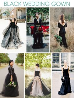 Lauren from I Love Love Events helps offers up ideas for how to wear black on your big day, for any style of wedding.