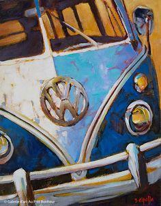 Galerie d'art Au P'tit Bonheur - retro paintings Peace Sign Drawing, Peace Sign Art, Copic Drawings, Car Drawings, Art Mini Toile, Drawing Sunset, Retro Kunst, Art Gallery, Mini Canvas Art