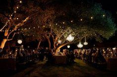 lighting for outdoor wedding