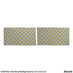 Gold Star with Grey Background Pillow Cases Available on many products! Hit the 'available on' tab near the product description to see them all! Thanks for looking!  @zazzle #art #star #pattern #shop #home #decor #bathroom #bedroom #bath #bed #duvet #cover #shower #curtain #pillow #case #apartment #decorate #accessory #accessories #fashion #style #women #men #shopping #buy #sale #gift #idea #fun #sweet #cool #neat #modern #chic #navy #blue #black #orange #grey #gray #yellow #gold #purple