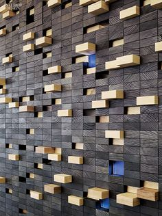 DESIGN: wood brûlée, wall designed by Perkins + Will for Newell Rubbermaid Interior Design Magazine, Interior Design Career, Interior Design Living Room, Color Interior, Luxury Interior, Interior Paint, Wood Wall Design, Wood Wall Art, Wood Walls