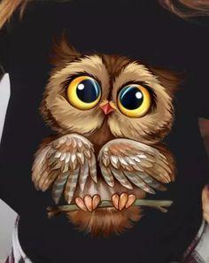 Cute Owl Drawing, Cute Animal Drawings, Cute Drawings, Owl Drawings, Baby Owl Tattoos, Cute Owls Wallpaper, Owl Artwork, Owl Pictures, Baby Owls