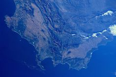 Dutch physican and ESA astronaut André Kuipers snaps photo of Western Cape from International Space Station