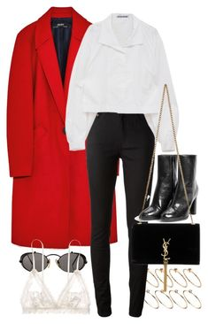 """""""Untitled #11203"""" by nikka-phillips ❤ liked on Polyvore featuring ASOS, Acne Studios, Jean-Paul Gaultier, MANGO, Yves Saint Laurent and Hanky Panky"""