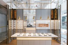 The design of a spectacles shop by LAANK reflects the authenticity and craftsmanship of the bespoke products on offer.
