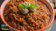 Welcome to Vismai Food. Here is the Soya Kheema Masala which is a best fit for rice, roti and chapati. Complete Recipe, Chapati, Curries, Spicy, Good Food, Healthy Recipes, Make It Yourself, Ethnic Recipes, Curry