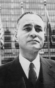 August 2011 ~ Ralph Bunche was a diplomat and political scientist, who was the first person of color to receive the Nobel Peace Prize in 1950. He was an excellent student and graduated from University of California, Berkeley and Harvard University. Bunche taught at Howard University and is mostly known for his work with the Arab-Israeli conflict in the 1940s.