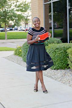 Black sheer Midi Skirt 5