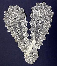 Lace jabot, American, 1860s. civil war era fashion