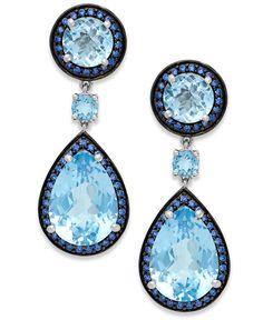 Jon Richard Silver crystal peardrop earring- at Debenhams.com ...