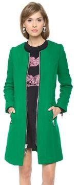 Milly Slim Zipper Coat on shopstyle.com