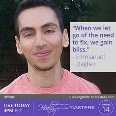 Awaken your truest, most authentic self and drench every fiber of your being with Divine Love... Join us LIVE TODAY at 4PM California Time with Human Transformation Specialist and #Holistic Health Practitioner and Teacher Emmanuel Dagher!  Just enter the password: healing #QA #livestream #Free #workshop #energymedicine