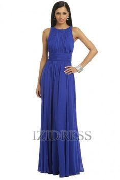 A-Line/Princess Bateau Chiffon Evening Dress - IZIDRESSBUY.COM at IZIDRESS.com