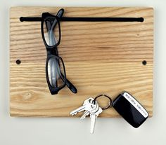 $74 is crazy high for string and wood...but would be a handy thing at the front door for sunglasses and keys.  Blokkey via @Incredible Things