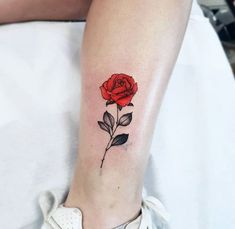 Ankle Tattoos For Women, Tattoos For Guys, Small Flower Tattoos, Small Tattoos, Mini Tattoos, Body Art Tattoos, Tattoos Skull, Rose Tattoo On Ankle, Zealand Tattoo