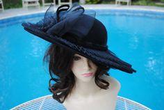 a300e7f1b6b Vintage Deborah Church Derby Wool Hat Black by ViktoriaLeighs Hat Making