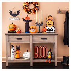 The Stories in the Dark Party and Decor Collection brings all of our childhood spooky stories to life through modern yet magical takes on traditional Halloween tales. From signature orange and black hues to classic yet quirky characters, this decor will trick out your home with everything from wreathes to table displays to silly signs and more. What a treat!