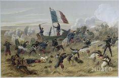 COMMANDEZ LA REPRODUCTION D'ART... Bataille de Gravelotte. 16 août 1870. de ,D'après Ferat Jules Descartes