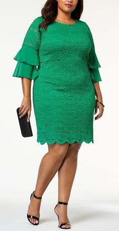 40 Plus Size Spring Wedding Guest Dresses {with Sleeves} - Plus Size Dresses - Plus Size Fashion for Women - alexawebb. Short African Dresses, Latest African Fashion Dresses, African Print Fashion, Short Dresses, Halter Dresses, Plus Size Wedding Guest Dresses, Plus Size Dresses, Plus Size Outfits, Lace Dress Styles