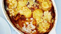 Peruna-jauhelihalaatikko - Yhteishyvä Snack Recipes, Snacks, Cauliflower, Food And Drink, Chips, Dinner, Vegetables, Ethnic Recipes, Koti