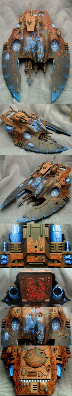 Eldar serpent. A little tame. Until you see the glow on the under-side and beautiful dwarven ruinc.
