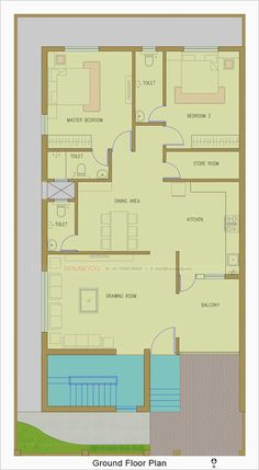 Duplex House Design, Modern House Design, Home Design Plans, Plan Design, Structural Drawing, 2 Bedroom House Plans, Front Elevation Designs, Building Front, Building Elevation