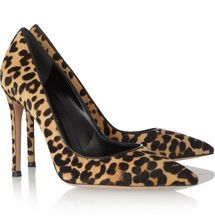 Hot Horse Hair Women Pumps High Heels Shoes Pointed Toe Women Shoes Sexy Leopard Grain Thin Heels Pumps High Heels Pumps Women