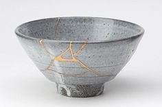 "#Kintsugi (""golden joinery"") is the centuries-old Japanese art of fixing broken pottery with a special a special lacquer dusted with powdered gold, silver, or platinum."