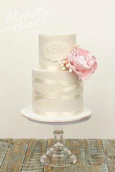 Peonies & Ribbons cake