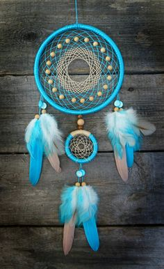 Blue dreamcatcher by Sorochka.deviantart.com on @DeviantArt