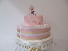 Winter Fun Blush and Gold Birthday Cake by Caroline's Cake Company, Sale, Cheshire