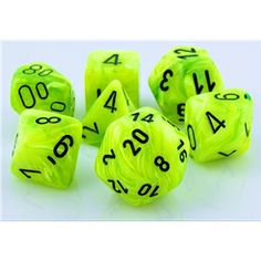 RPG Dice Set (Vortex Bright Green) role playing game dice