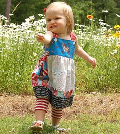 Raggedy Ann and Andy peasant apron dress by by littleellaroo, $58.00