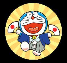 Celebrating the anniversary of the birth of Fujiko F. Fujio, creator of Doraemon, Perman, Kiteretsu, and many other well-loved characters. Doremon Cartoon, Cute Pokemon Wallpaper, Line Sticker, Doraemon, Childhood Memories, Birth, Anniversary, Tech, Stickers