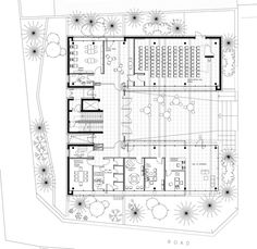 Image 1 of 36 from gallery of National Conservatory / AAU ANASTAS. Photograph by Mikaela Burstow Conceptual Architecture, Architecture Concept Drawings, Architecture Plan, Architecture Details, School Floor Plan, Library Plan, Museum Plan, Co Housing, University Architecture