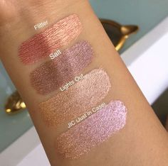 ⚡️NEW⚡️+ SWATCHES! ColourPop Cosmetics is releasing 4 NEW Ultra Metallic Lipsticks in NEW lighter shades, •JIC •Lights out•Salt•Flitter AVAILABLE tomorrow at 10am PST Also tomorrow is a RESTOCK of the original Metallics •Kween•Maneater•Zebra•3way