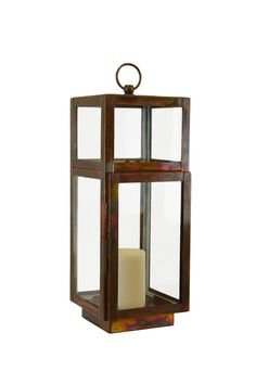 Ro Sham Beaux: Chelsea Lantern 6 x 6 x 10 Burnt Copper Finish. To order, call us at 843-641-7087.