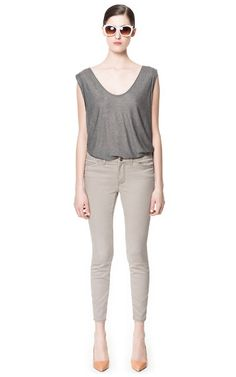 Image 1 of PEARL GREY JEANS from Zara