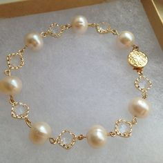 Your place to buy and sell all things handmade Gold Freshwater Pearl Crystal Bracelet Freshwater Pearl Pearl Jewelry, Wedding Jewelry, Beaded Jewelry, Pearl Rings, Pearl Necklaces, Freshwater Pearl Bracelet, Shell Jewelry, Jewellery, Crystal Bracelets